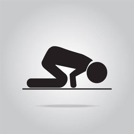 devout: Prayer symbol, icon vector illustration Illustration