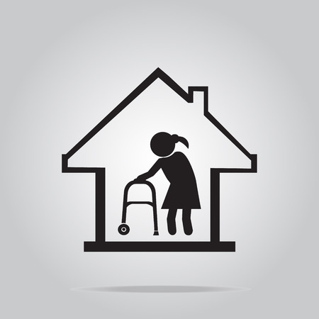 Nursing symbole de la maison, icône illustration vectorielle