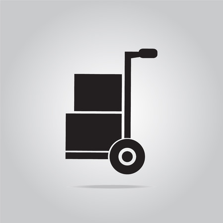 handcart: Handcart symbol vector illustration