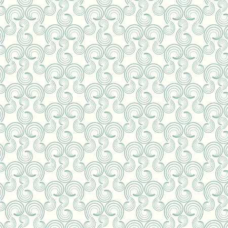 green swirl: Seamless pattern swirl green vector background