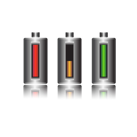 Battery charge status, vector illustration Illustration