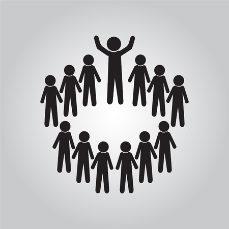 business meeting: Meeting Business icon, people symbol vector illustration Illustration
