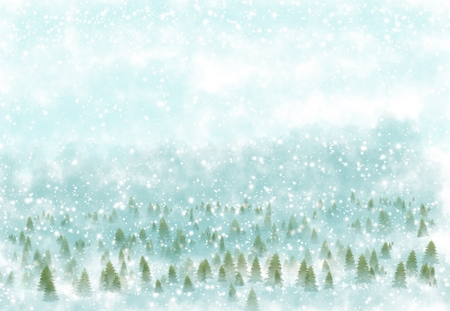 lonely: Winter landscape with snowy background