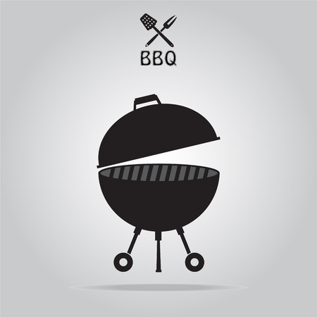 barbecue stove: BBQ grill, grill stove symbol vector illustration