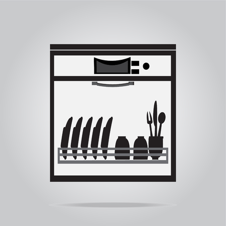 lavaplatos: Símbolo Lavavajillas, icono de ilustración vectorial