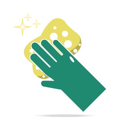 environmental sanitation: Cleaner symbol, icon vector illustration