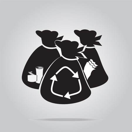 paper recycling: Garbage bag symbol vector illustration Illustration