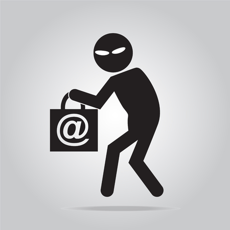 Hacker, Internet security concept, thief icon symbol illustration