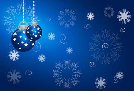 greetings from: abstract christmas blue vector background