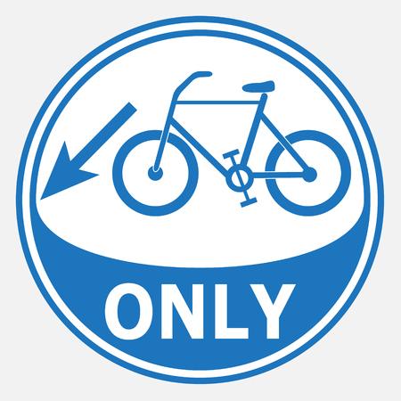 bicycle lane: Bicycle lane sign illustration