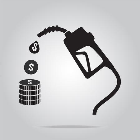benzine: Gasoline pump symbol, vector illustration Illustration