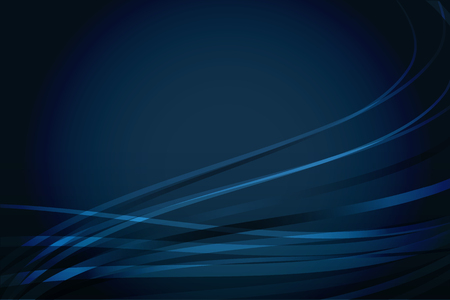 Abstract vector navy blue background with wavy lines