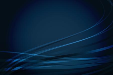 Abstract vector marine blauwe achtergrond met golvende lijnen Stock Illustratie