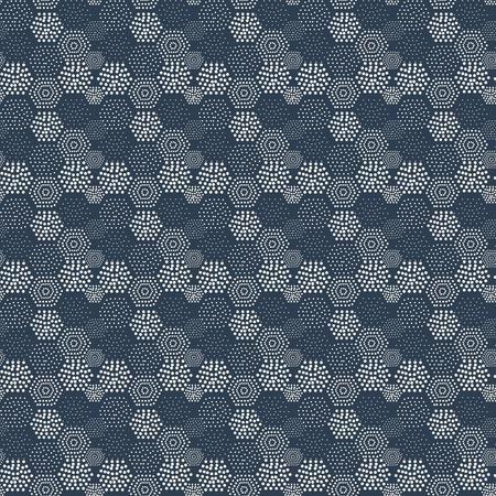 azul marino: Azulejos geom�tricos Patr�n sin fisuras del lunar abstracta fondo azul marino Vectores