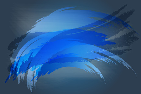 navy blue: Navy blue abstract brush texture vector for background Illustration