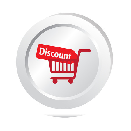 cart button: Discount and cart button icon vector illustration Illustration