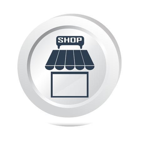shop button: Shop button icon vector illustration