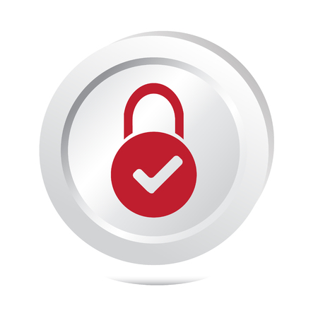 secure site: Key button icon vector illustration Illustration