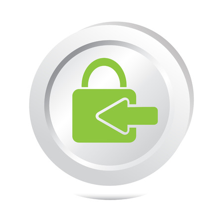 log in: Key button, log in icon illustration