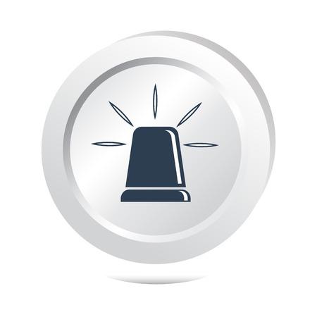 intruder: Siren button, emergency sign illustration