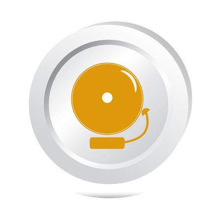 intruder: Alarm bell button, warning sign illustration