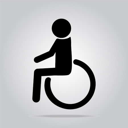 disabled access: Disabled icon sign illustration