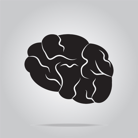 imagine a science: Brain icon, sign vector illustration