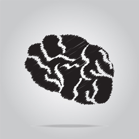 imagine a science: Brain icon, sign vector illustration