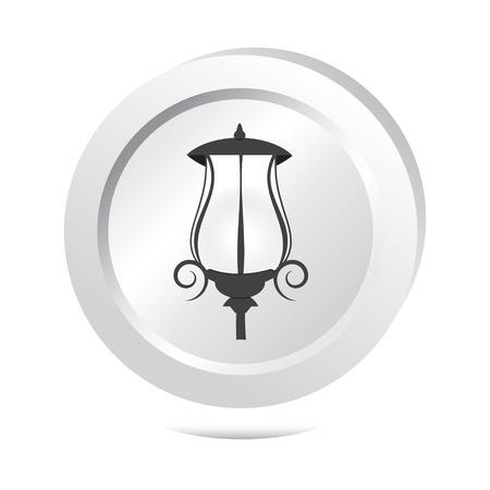 Straat licht knop, pictogram vector illustratie