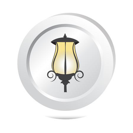 street light: Street light button, icon vector illustration