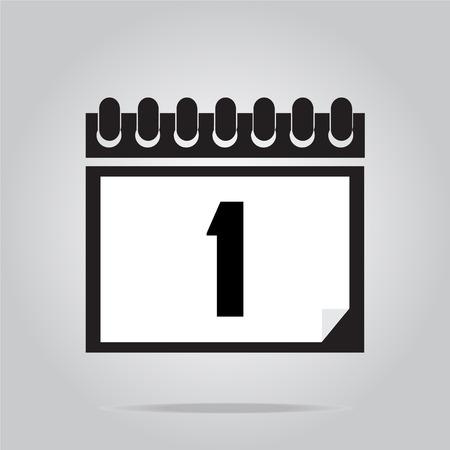 calendar icon: Calendar icon vector illustration