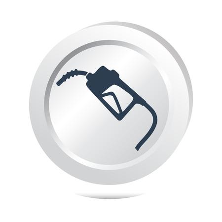 gasoline pump: Gasoline pump sign button icon, vector illustration Illustration