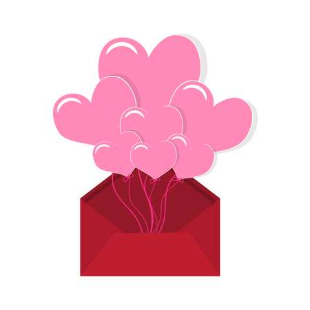 torn heart: Valentines Day, Heart and parcel illustration vector background