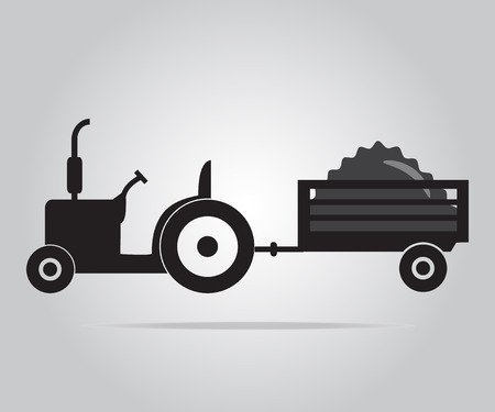 cultivating: Tractor icon, Agriculture tractor illustration