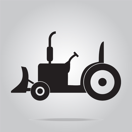 wheel tractor: Tractor icon, Agriculture tractor illustration