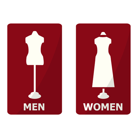 fitting: Toilet Sign, Fitting room sign flat icon