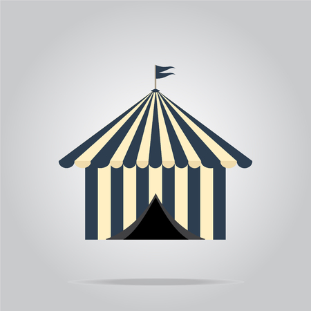 pavilion: Circus pavilion,  tent icon vector illustration Illustration