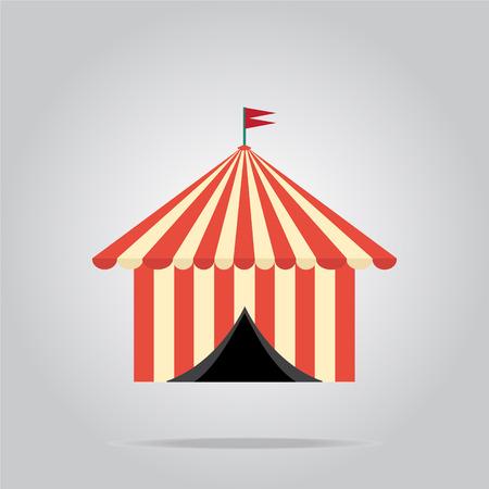 pavilion: Circus pavilion,  tent icon vector illustration Illustration
