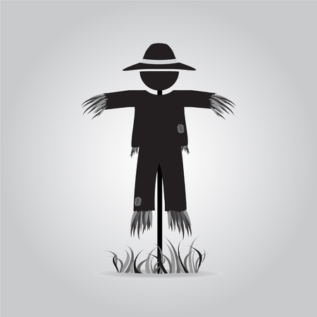 rice field: Scarecrow icon sign