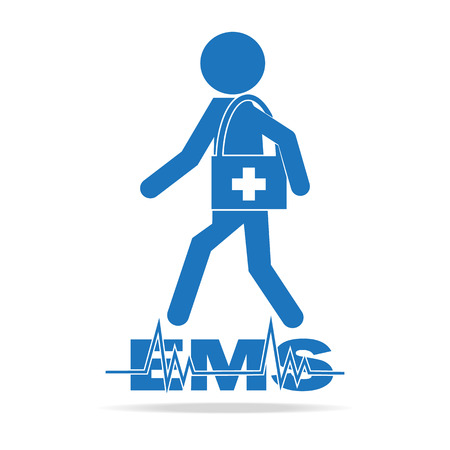 Emergency medical services concept, Rescue icon vector illustration
