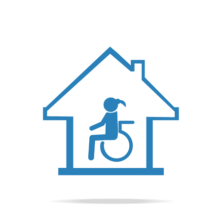 'nursing home': Disabled care, Nursing home sign icon