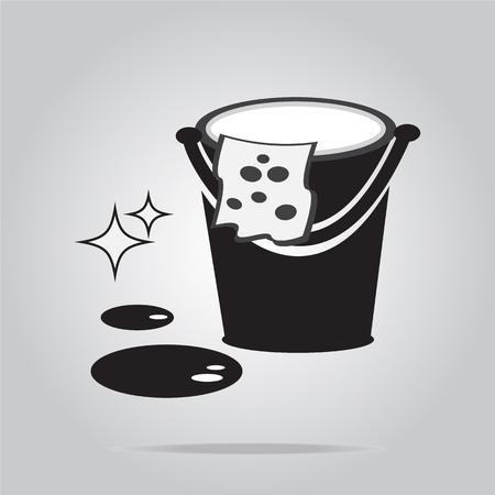 environmental sanitation: Cleaning icon vector illustration