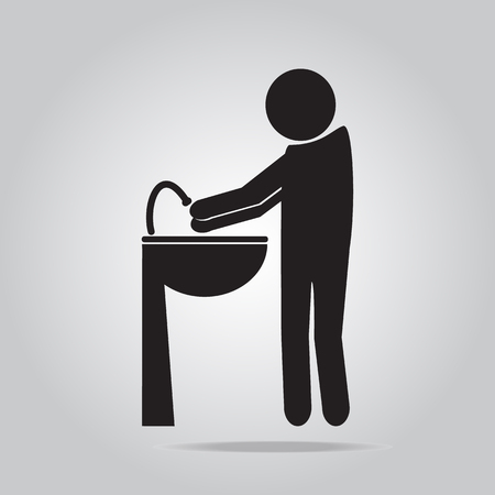 infection prevention: Wash your hands icon vector illustration Illustration