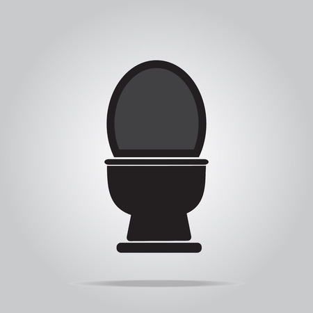 bidet: Toilet icon sign vector illustration