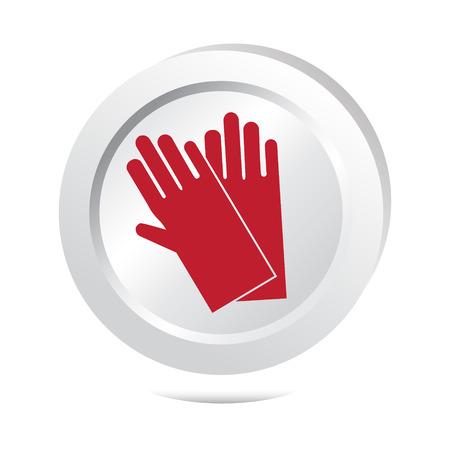environmental sanitation: cleaning gloves icon Illustration