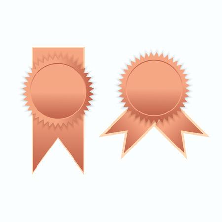 elegance: Bronze label icon sign elegance vector illustration
