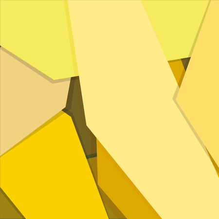 layer: Yellow gradient geometric background material design overlap layer Illustration