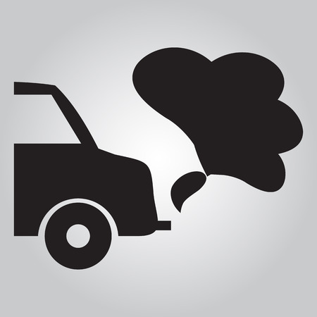 exhaust: Cars exhaust smoke sign Illustration