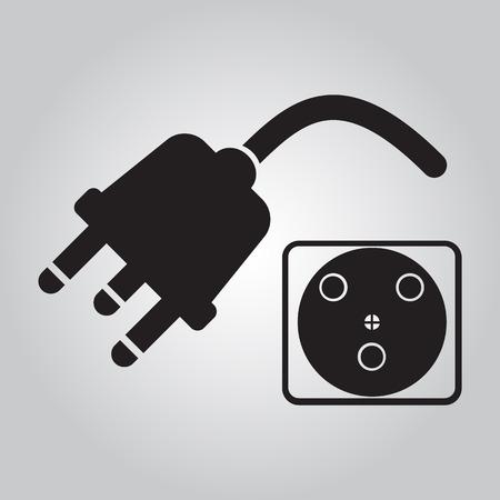 plug socket: Plug icon, socket icon sign