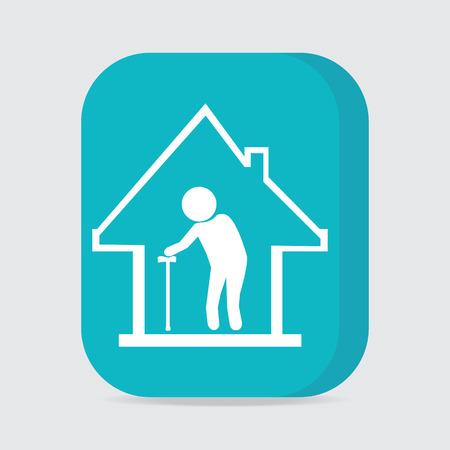 Nursing home-knop, pictogram vector illustratie Vector Illustratie